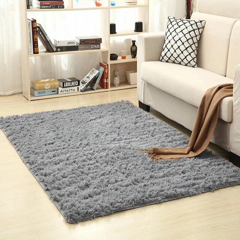 doux interieur moderne shag tapis moelleux salon tapis adapte pour enfants chambre decor plancher enfants jouant tapis de pepiniere