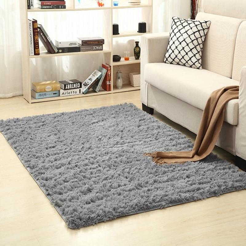 Soft Indoor Modern Shag Area Rugs Fluffy Living Room