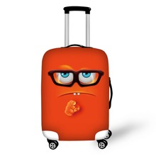 Emoji Design travel accessories suitcase protective covers 18-30 inch elastic luggage dust cover case stretchable Waterproof