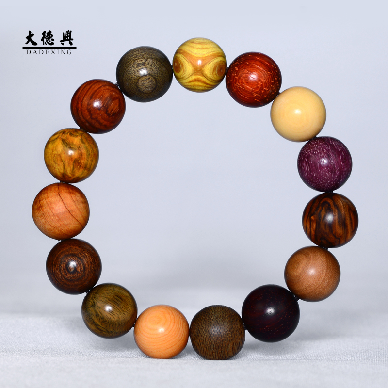 Bao on Wooden Rosary Bracelet Pearl Bracelet female pear bracelets sandalwood red sandalwood incense