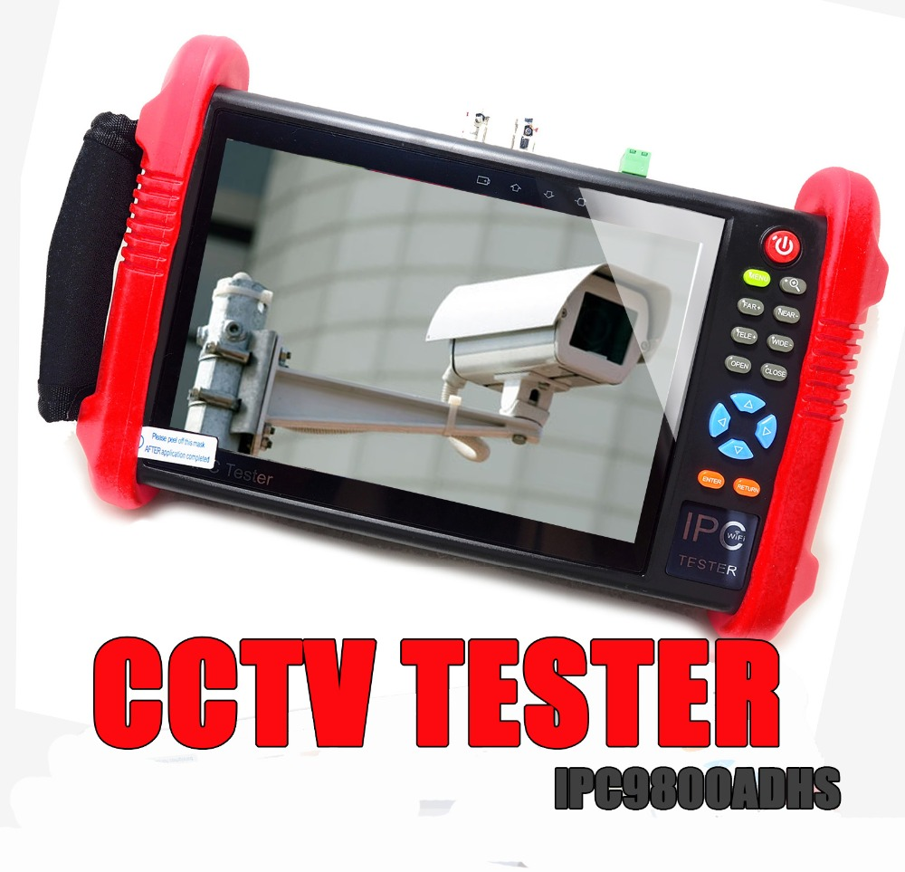 IPC9800ADHS 7inch CCTV Cameras Tester Monitor TVI CVI AHD SDI CVBS IP HD Coaxial Camera Tester for Test Security Camera