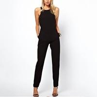 ISHINE 2017 Summer Fashion Women S Rompers Jumpsuit Casual Solid Bodysuit Elegant Sleeveless Crew Neck Long