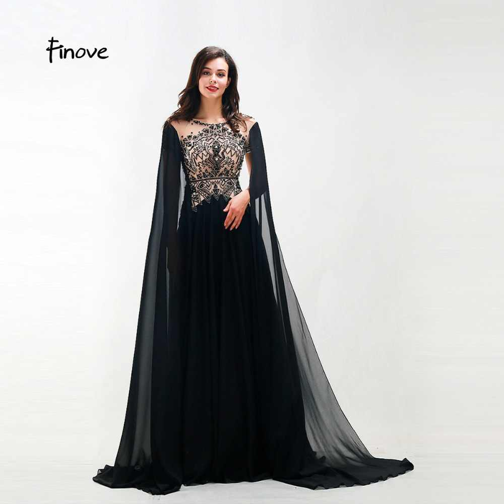 670d1d1a3 Finove New Style Long Evening Dress 2019 Woman Chic Evening Gown Beading  Full Sleeved Floor Length