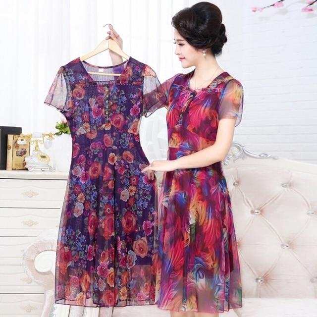 Summer Dresses For Older Women Dresses Middle Aged Women -1066