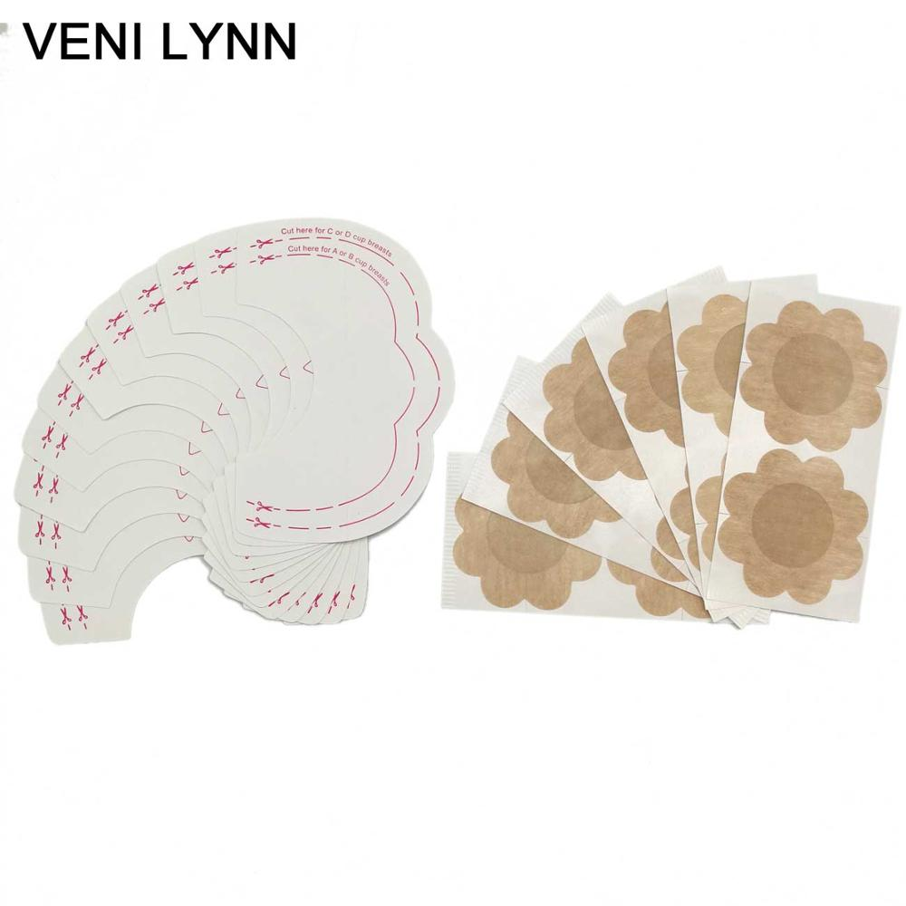 VENI LYNN 10 Pairs Instant Breast Lift Bring It Up Lifter Invisible Sticker Tape Nipple Cover Push  Boob Lift Bust Pasties