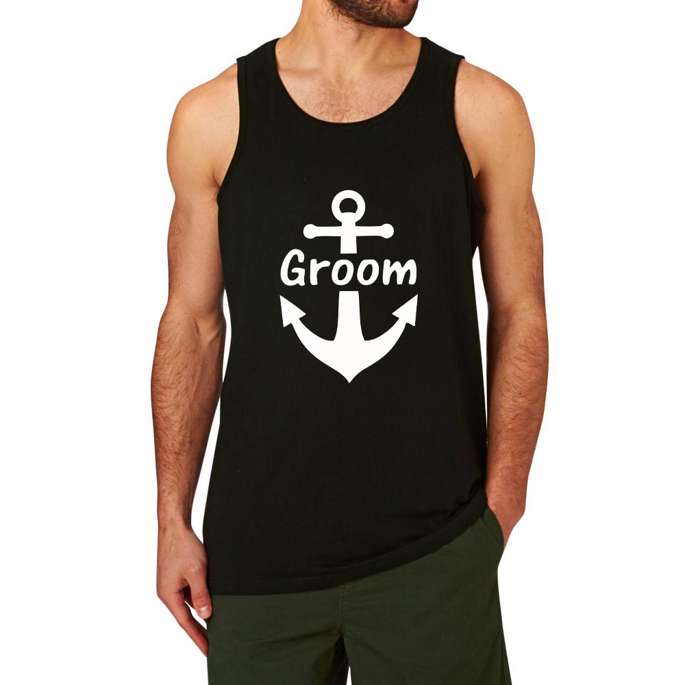 a98e4275a2264 Loo Show Nautical Anchor Groom Wedding Bachelor Party Casual Graphic Tank  Tops men