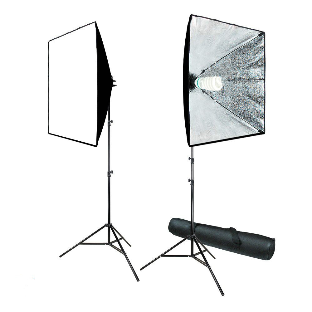 "700W Photography Softbox Light Lighting Kit Photo Equipment Soft Studio Light Softbox 24""X24"", AGG814"