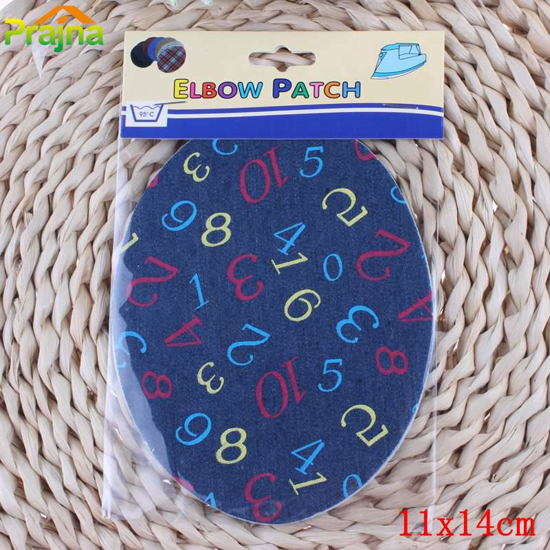 New Design Elbow Patches Kids Iron On Cartoon Number Applique For Clothing Repair Patch Stickers Cheap