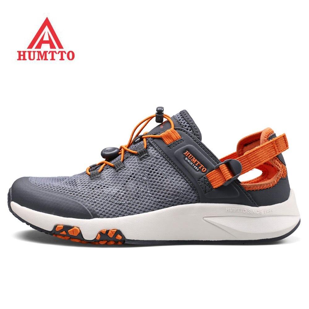 HUMTTO chaussures été homme eau Aqua pieds nus baskets pour homme pêche randonnée Trekking sandales chaussures de plage baskets homme