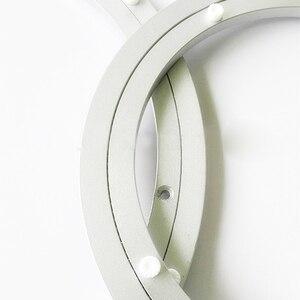 Image 3 - アルミ回転ターンテーブルベアリングスイベルプレート16インチシルバー