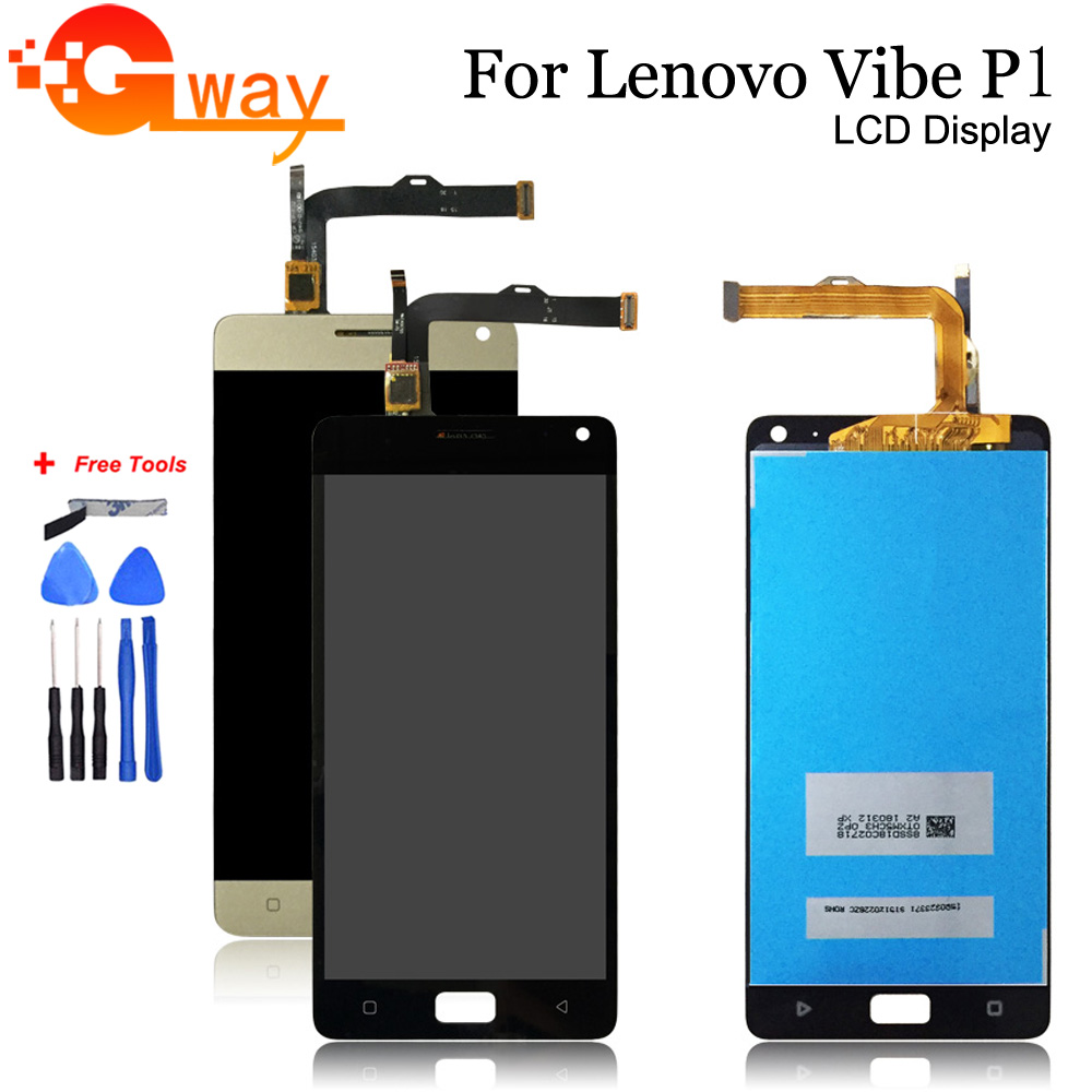 For Lenovo Vibe P1 LCD Screen Display+Touch Panel Digitizer Assembly Parts For Lenovo P1a42 LCD And Touch Screen