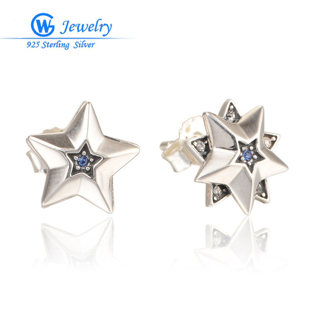 Gw Fashion Jewelry Simple Style Sterling Silver Star Earrings Famous Designer Womenwhole Boucle 925 Argent