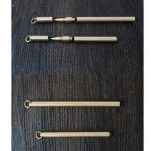 Ретро латунная золотая ручка, ручка из чистого металла, ручная тактическая ручка, медная подарочная ручка, для выживания на открытом воздухе, EDC, для кемпинга, стеклянный выключатель