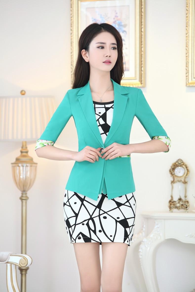 Primavera verano vestido Formal trajes para mujeres Work