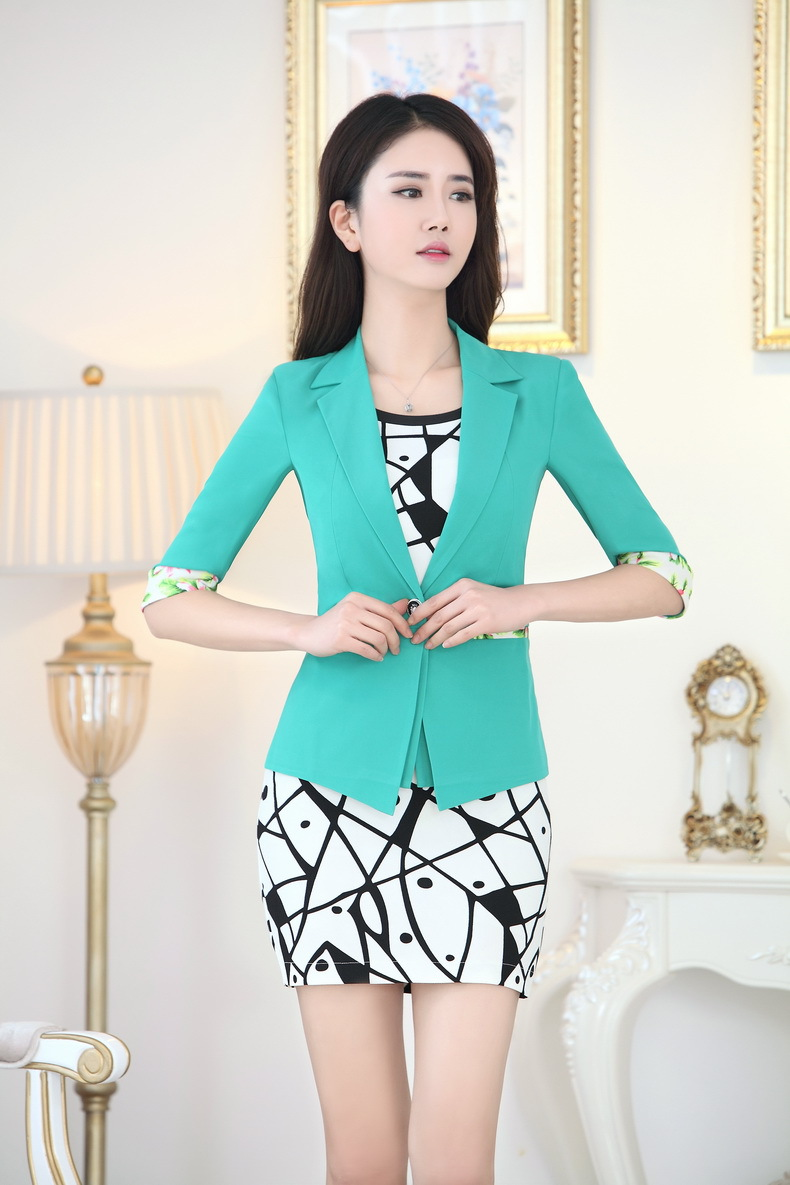 Spring Summer Formal Dress Suits Women Work Wear Suits Blazer And