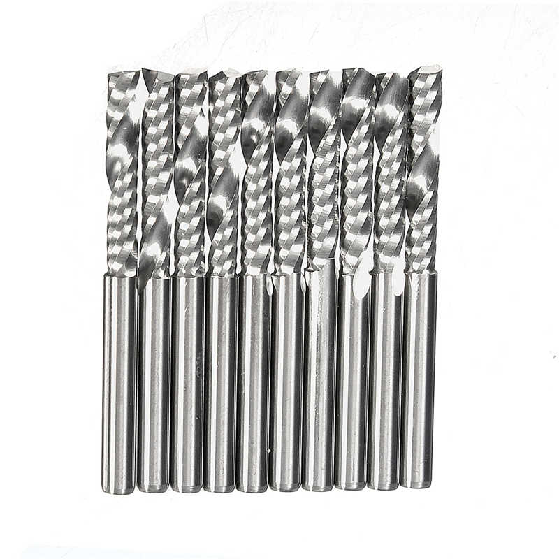 New 3.175 x 17mm (1Lx3.17) Good 10pcs 1/8 inch Cnc Bits Single Flute Spiral Router Carbide End Mill Cutter Tools 2016 10pcs lot 1 8 high quality cnc bits single flute spiral router carbide end mill cutter tools 3 175 x 17mm 1lx3 17