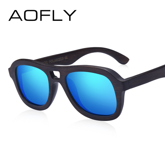 6e26eb4bee AOFLY BRAND DESIGN Polarized Wooden Sunglasses Men Women Handmade Bamboo  Frame Fashion Style Mirror Eyewear AF611