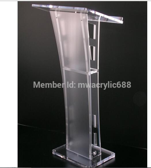 送料無料美しい簡単安い取り外し可能なアクリル表彰台説教壇書見台