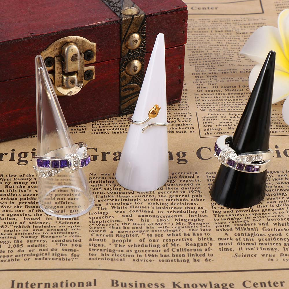 5pcs New Item Rack Ring's Holder Fancy Acrylic Jewelry Finger Ring Display Ring Holder Jewelry Exhibition Stand