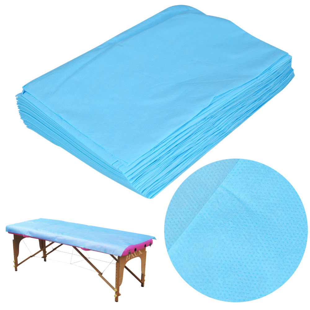 20pcs Practical Massage Waterproof Disposable Nonwoven Bed Table Cover Sheets Beauty Salon Dedicated Blue 80X180cm