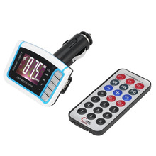 цена на 2018 New 1.44 LCD Wireless FM Transmitter USB Car MP3 Player lecteur mp3 for SD TF Card USB Drive Remote Control Drop Shipping