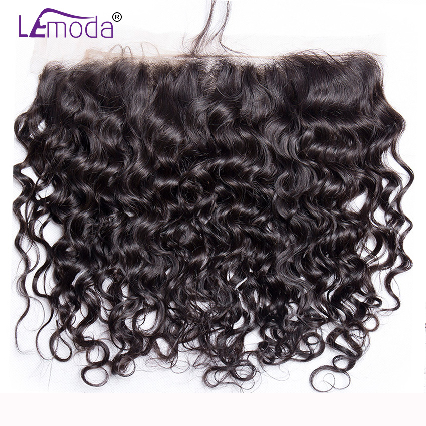 HTB1WMWXXhrvK1RjSszeq6yObFXaS LeModa Malaysian Water Wave Human Hair 3 Bundles With Lace Frontal Closure Remy Hair Extensions 13x4 Lace Frontal With Bundles