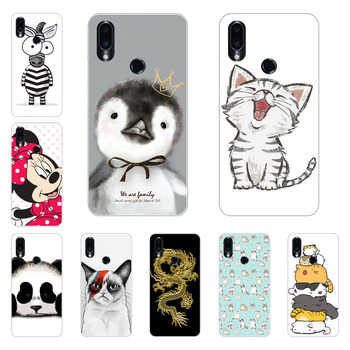 Meizu note 9 Case,Silicon Super cat Painting Soft TPU Back Cover for Meizu note9 protect Phone shell