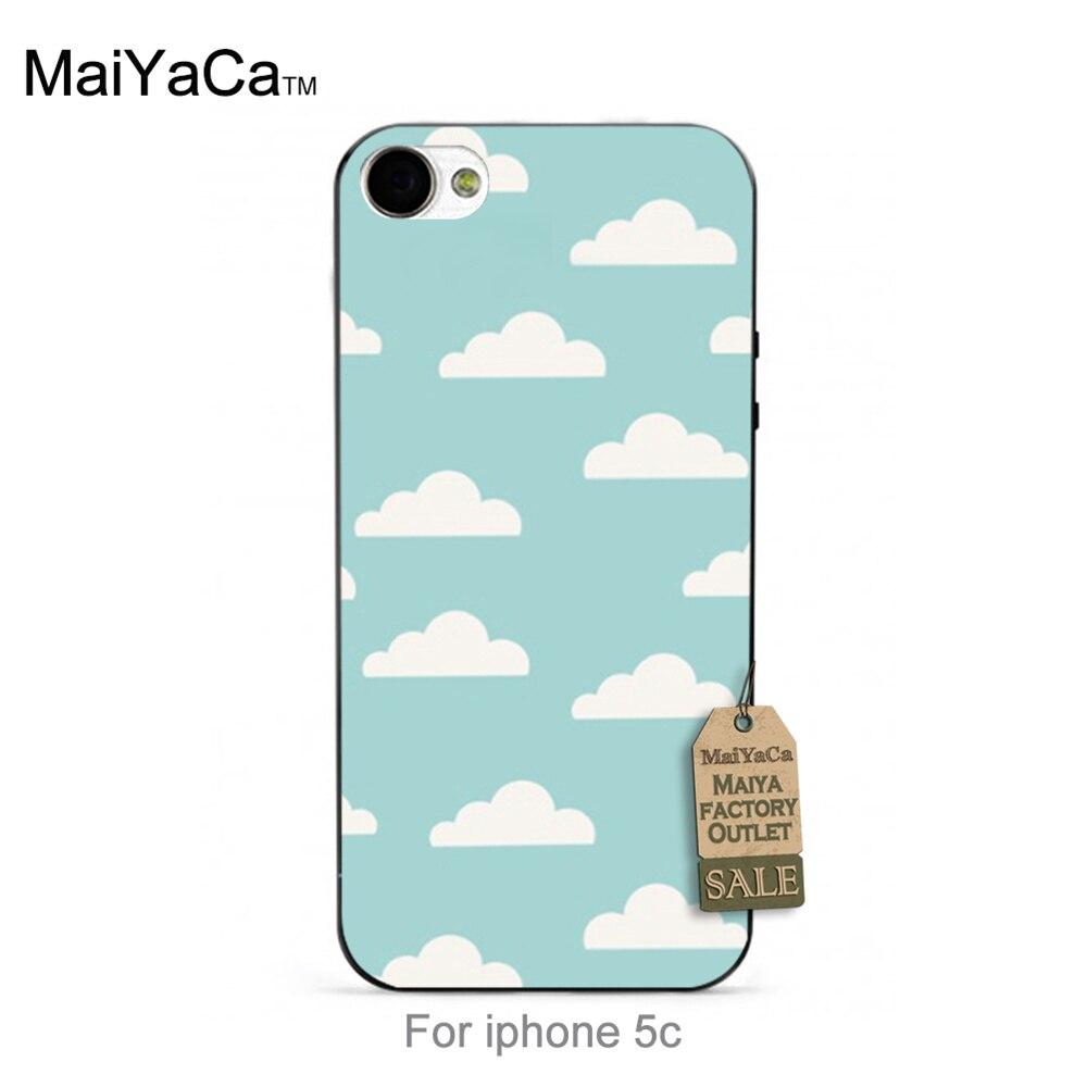 Lindo nubes en el cielo azul de impresión encantadora de plástico duro teléfono