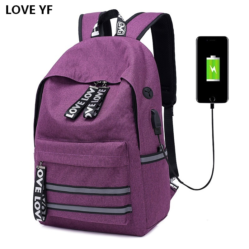 Red Women Backpack School Bag Teenagers Couple capacity travel Waterproof backpack fashion youth korean style shoulder bag new style school bags for boys