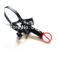 Double-Ended Dildo Gag, Mouth Gag Dildo Harness, Head Strap on, Strap on Dong, Sex Toys, Sex Product