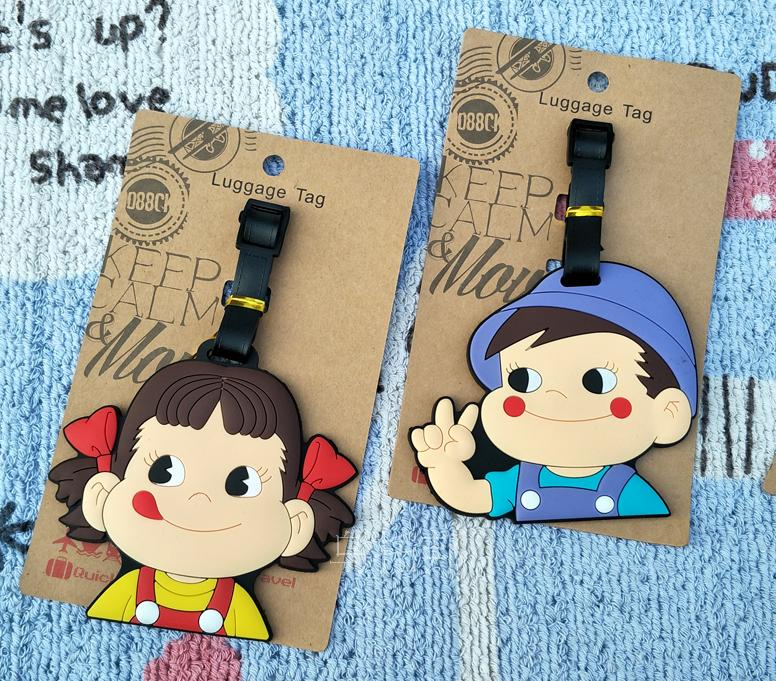 2018 New Sale Luggage Tag Valiz Travel Goods Not Two Sister For Brother Soft Glue Checked Up The Milk Brand Identification Card