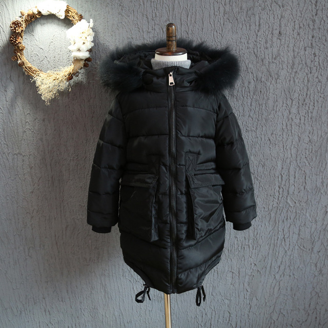 YNB 5Pieces High quality winter down jacket for girls black kids long jacket boy keep warm winter coats children's clothes
