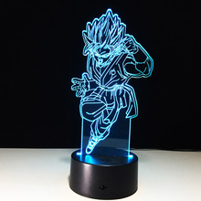 Dragon ball Z Figure Son Goku 3D Light Led Colorful Night Light Acrylic USB LED Table Lamp Creative 3D Lighting Lamp