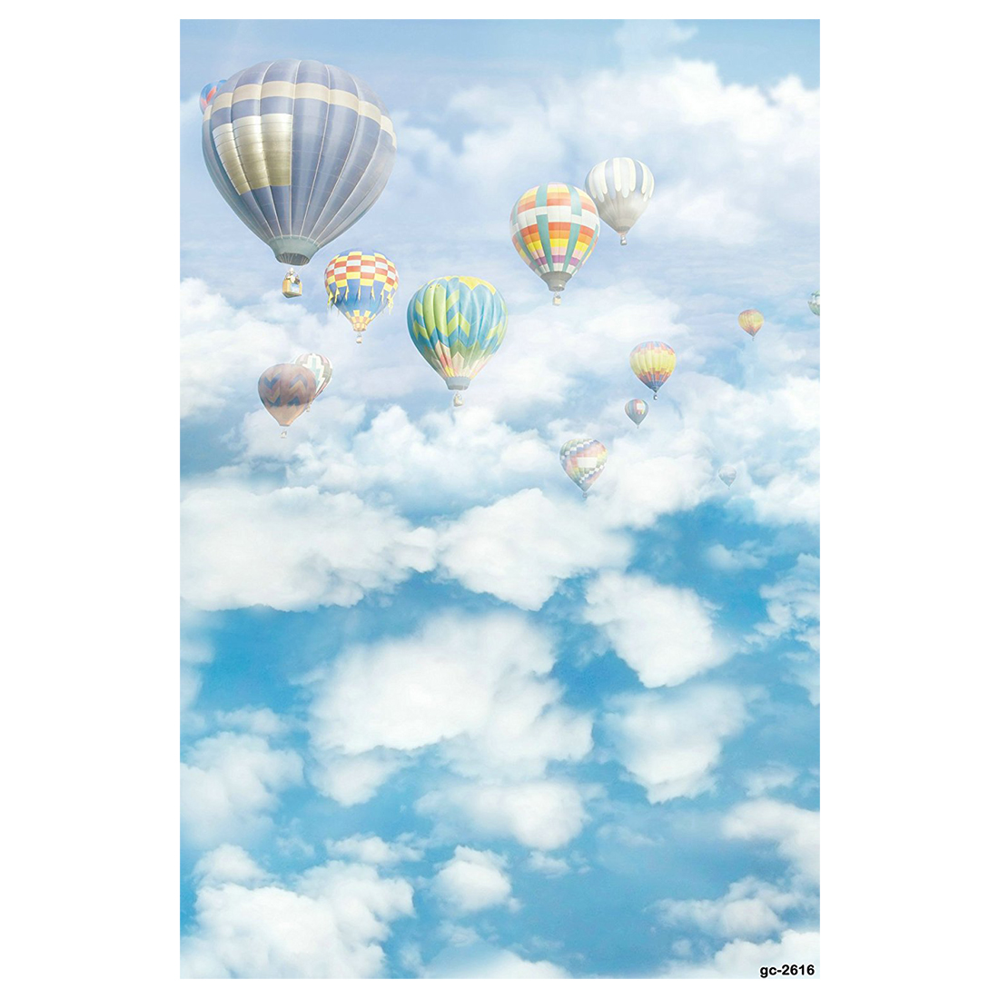 5x7ft White Clouds and Blue Sky Hot Air Balloon Photo Backgrounds no Wrinkle Photography Backdrops for Newborn 10 6 5feet 300 200cm photography backdrops vast blue sky and white clouds sofa free shipping