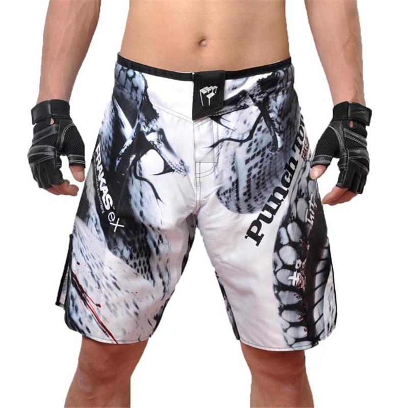 Prix pour 2017 Nouveau Homme Pantalon de Combat de MMA shorts Sport De Boxe Troncs Sport Vêtements Muay Thai Style de Multiples de Lutte Hommes vêtements