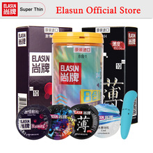 hot deal buy elasun 44pcs latex condom 8 types condoms ice and fire dotted pleasure for men safer contraception gift vibrator
