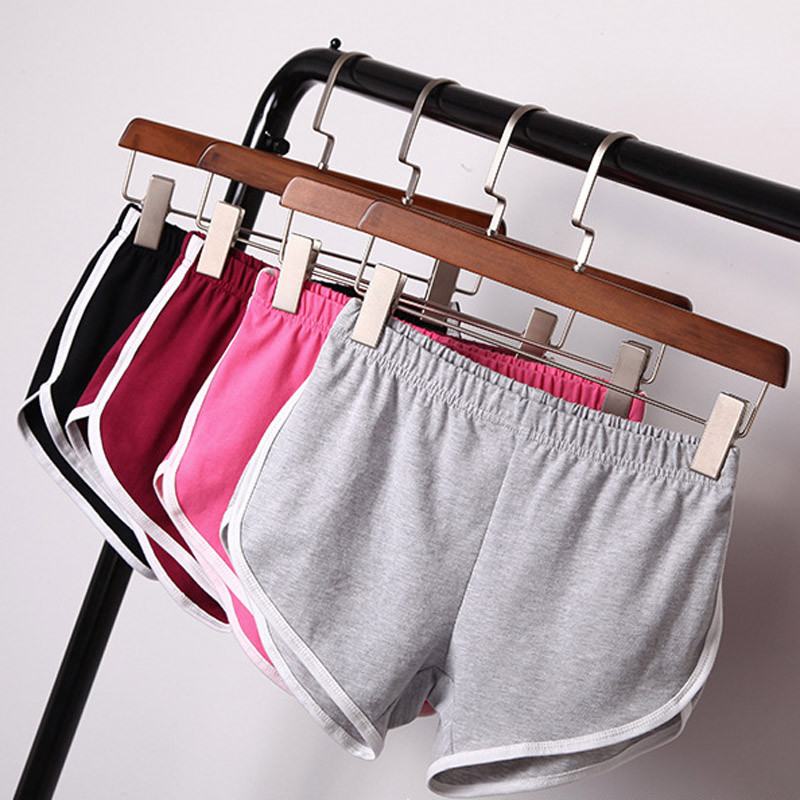 Casual Summer Shorts Women Elastic Waist Leisure Loose Womens Shorts Korean Style Black Woman Short Shorts Home