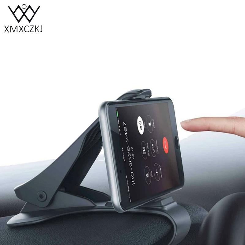 XMXCZKJ Magnet Phone Holder Universal Adjustable Phone Car Dashboard Holder Clip Stand Bracket For Smartphone GPS Clip Bracket