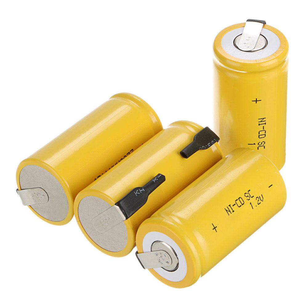 New Sub C SC Ni-CD Battery 22*42mm 1.2V 1600mAh Rechargeable NI-CD Batteries With Protector Board For Electronic Tools
