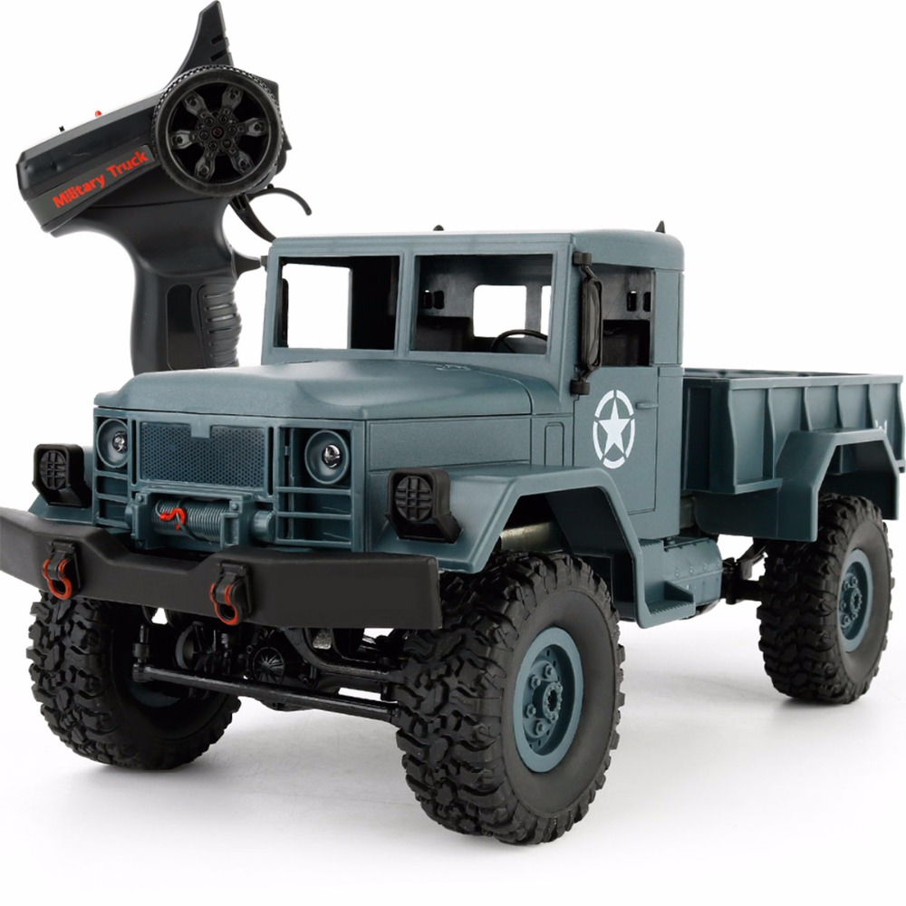 WPL B1 Mini Off-Road RC Military Truck 1:16 Crawler Car with Light Bright LED RTR Toy Drive Metal Remote Control RC Toy Cars цена