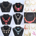 Fashion short design zircon necklace earrings set accessories
