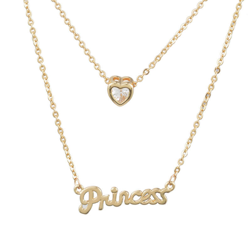 New fashion rhinestone letter princess pendant necklace for women new fashion rhinestone letter princess pendant necklace for women gift valentines day 50cm in pendant necklaces from jewelry accessories on aloadofball Gallery