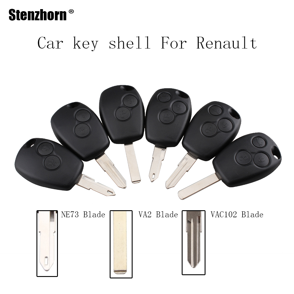 Stenzhorn 2/3 Buttons Key Case for Renault Duster Modus Clio 3 Twingo DACIA Logan Sandero Keys Fob Remote Shell Replacement 2 buttons remote car key shell case cover fob housing for renault megan modus clio modus kangoo logan sandero duster with logo