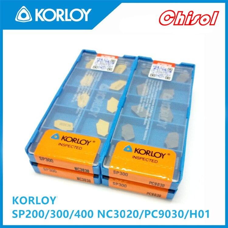 free shipping 10pcs/box parting off carbide inserts SP300 H01 CNC cutting blade processing Aluminium