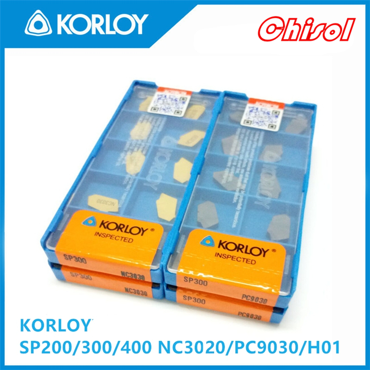 free shipping Korloy 10pcs/box parting off carbide inserts SP300/SP400 H01 CNC cutting blade processing Aluminium dhl ems 5 lots new sandvik 5322472 01 carbide inserts 10pcs box a2