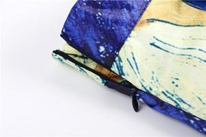 Image 5 - נשים חצאיות מקסי שמי זרועי הכוכבים ואן גוך ציור שמן 3D הדפסה דיגיטלית חצאית טוטו רוקבילי רטרו גבוה מותן חצאית עלים SP003