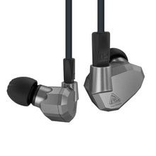 KZ ZS5 Écouteurs Huit-cellulaire Anneau De Fer Abs Écouteurs Bleu Et gris Extra Bass Haute Fidélité Dans L'oreille Sport Écouteurs Livraison le bateau