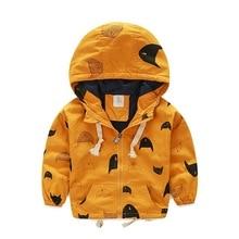 Printemps et automne vêtements enfants sportif enfants vêtements garçons vestes à capuche Cartoon imprimé coupe – vent imperméable