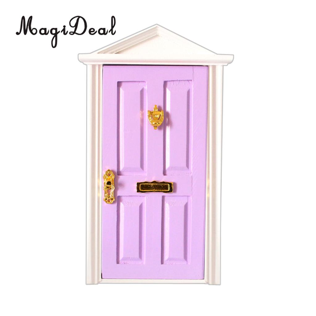 1:12 scale dolls house miniature selection of wooden  doors 4 to choose from.