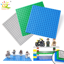 3 color 16*16 Dot Double side BasePlate Board for Bricks Compatible Legoed classic city figures Building Block Toys For Children